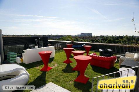 referenz veranstaltungsort catering radio charivari rooftop party done by die k che im. Black Bedroom Furniture Sets. Home Design Ideas